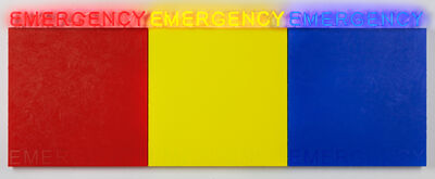 Deborah Kass, 'EMERGENCY (RED, YELLOW, BLUE) ', 2019