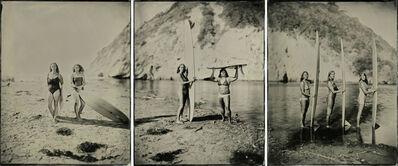 Joni Sternbach, '15.11.07 #5-6-7 The Women and the Waves, Triptych (Santa Barbara, CA)', 2015