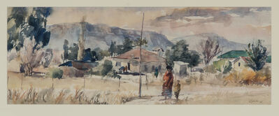 Durant Sihlali, 'Mount Frere (Transkei Townscape in Winter)', 1975