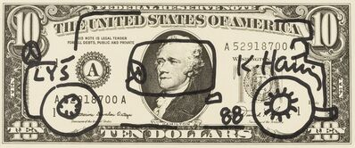 Keith Haring, 'Dollar Bill Drawing (Car)', 1988