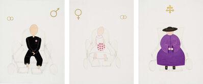 Renate Bertlmann, 'Bridegroom, Bride & Cardinal', 1975