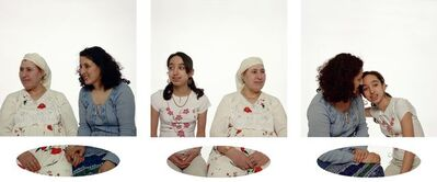 Zineb Sedira, 'Mother, Daughter and I (triptych 2)', 2003