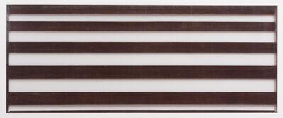 Unknown Artist, 'Katagami (stencil) for a summer kimono, striped pattern, Japanese, Showa period', 1960-1969