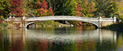 Andrew Prokos, 'Panoramic Landscape of Bow Bridge in Autumn, Central Park', 2016