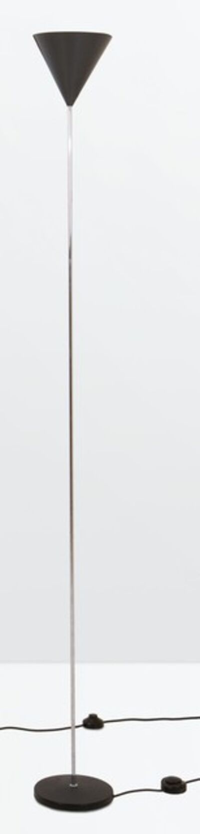 Luigi Caccia Dominioni, 'an LTE 5 Imbuto floor lamp in metal, nickeled brass and varnished aluminum', 1953