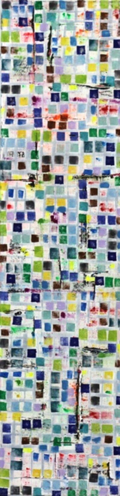 Petra Rös-Nickel, 'Stripe Maps Blue', 2015