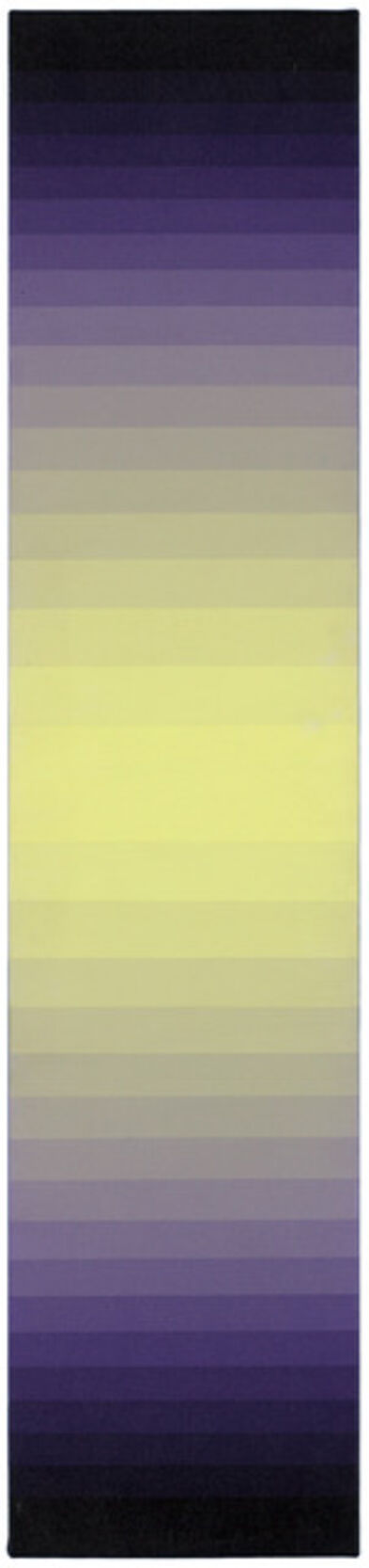 Norman Zammitt, 'Yellow to Violet II', 1978-1981