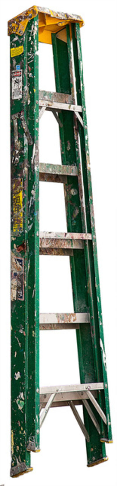 Jennifer Williams, 'Medium Folding Ladder: Green with Yellow Top and Paint', 2013