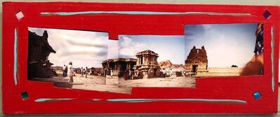 Kim MacConnel, 'Tourists Hampi, India, 1992, Photo Prints on Cardboard, Collage, Mirror Insets', 1990-1999