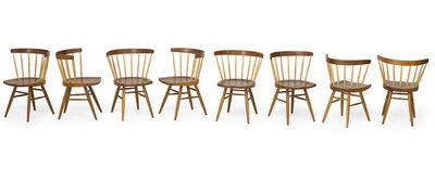 George Nakashima, 'Set of eight Straight-Back dining chairs, USA', 2000s