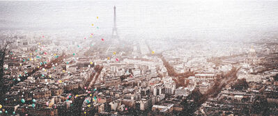 David Drebin, 'BALLOONS OVER PARIS DIAMOND DUST', 2020