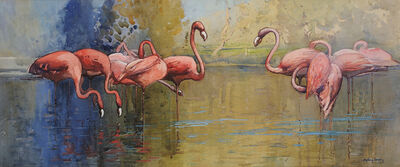 Sydney Long, 'Flamingo Pool', 1915