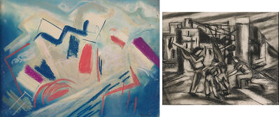 Joseph Meierhans, 'Two Works of Art: Untitled, Untitled (Four Workers)'