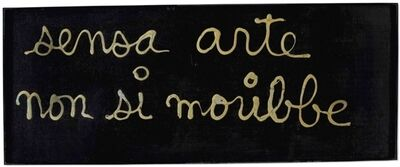 Ben Vautier, 'Sensa arte non si moribbe', 1971