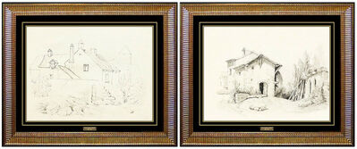 Louis Comfort Tiffany, 'Louis Comfort Tiffany Original Drawing HAND SIGNED LCT Gold Favrile Glass Art', 19th Century