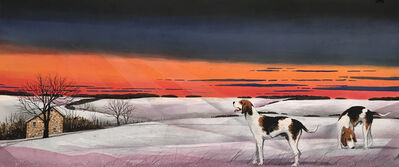William Dunlap, 'Double Dog Snow Tracks ', 2018