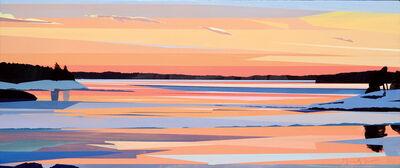 Greta Van Campen, 'Winter Sunset on the Kennebec', 2014