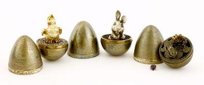 Stuart Devlin, 'Three silver gilt surprise eggs', London 1971, 1972, 1973