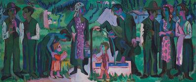 Ernst Ludwig Kirchner, 'Alpsonntag. Szene am Brunnen (Scene at the Fountain)', 1923-1925