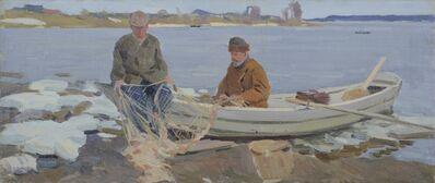 Aleksandr Timofeevich Danilichev, 'Oka River fishermen', 1965