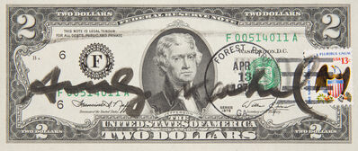 Andy Warhol, 'Two Dollars Jefferson', 1976