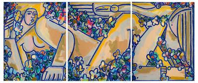 America Martin, 'Lidia & Swan Triptych', 2020