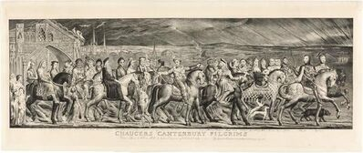 William Blake (1757-1827), 'CHAUCER'S CANTERBURY PILGRIMS (ESSICK 16)', 1810