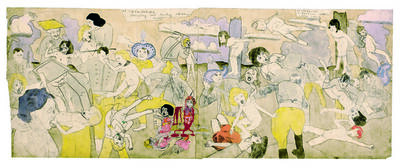 Henry Darger, 'At Calmanrina murdering naked little girls', 1910-1970