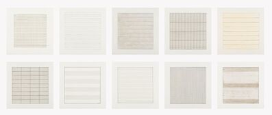 Agnes Martin, 'Paintings and Drawings 1974-1990 (suite of 10)', 1991