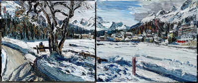Christopher Lehmpfuhl, 'St. Moritz (Diptychon)', 2016