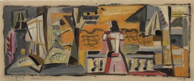 Werner Drewes, 'Woman on Balcony', 1947