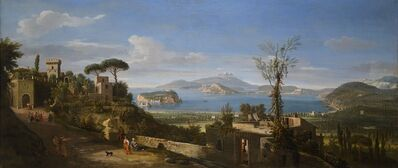 Gaspar Van Wittel, Called Vanvitelli, 'A View of the Bay of Pozzuoli, near Naples, taken from the east, looking towards the port of Baia, with the Islands of Nisida Procida and Ischia', 1700