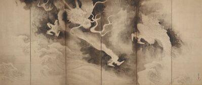Tawaraya Sōtatsu, 'Dragons and Clouds (Unryū-zu)', 1590-1640