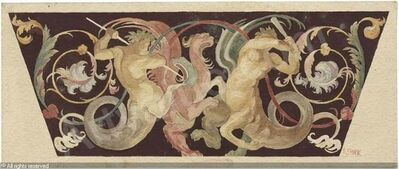 Franz von Stuck, 'Grotesque with Fighting Centaurs', Early 20th Century