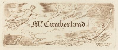William Blake (1757-1827), 'George Cumberland's Card', 1827