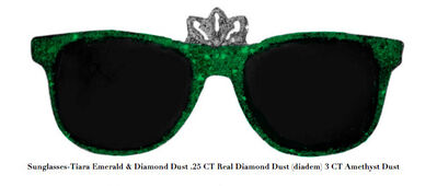 Stacy Engman, 'Sunglasses-Tiara Emerald & Diamond Dust .25 CT Real Diamond Dust (diadem) 3 CT Emerald Dust', 2019