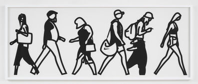 Julian Opie, 'Walking in Melbourne 1', 2018