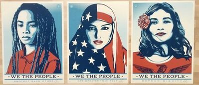 """Shepard Fairey (OBEY), '""""We The People""""', 2017"""