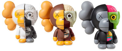 KAWS, 'Dissected Milo (brown, grey, black)', 2011