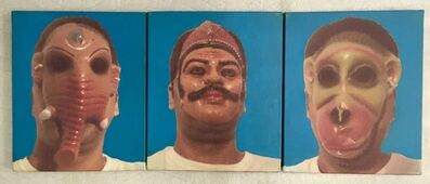Nitin Mukul, 'Untitled Triptych (Three Faces)', 2003