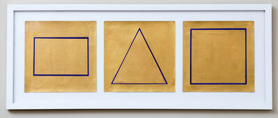 Joyce Siegel, 'Gold Shapes (Triptych)', 2015