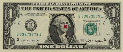 Hans-Peter Feldmann, '1 Dollar Bill with Red Nose'