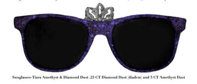 Stacy Engman, 'Sunglasses-Tiara Amethyst & Diamond Dust .25 CT Diamond Dust (diadem) and 3 CT Amethyst Dust', 2019