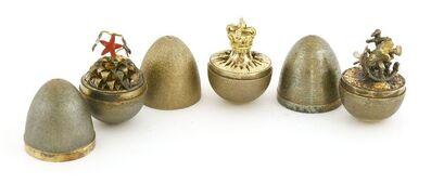 Stuart Devlin, 'Three silver gilt surprise eggs', London 1976-two 1977