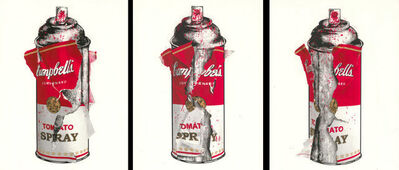 Mr. Brainwash, 'Torn Spray Can (Tryptych)- Sold as a set of 3 or individually', 2020
