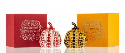 After Yayoi Kusama, 'Red and Yellow Pumpkin (two works)', n.d.