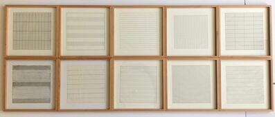 Agnes Martin, 'Suite of 10 (Ten) Original Lithographs on Vellum Parchment - Framed (Stedelijk Museum, Amsterdam, the Netherlands)', 1990-1991