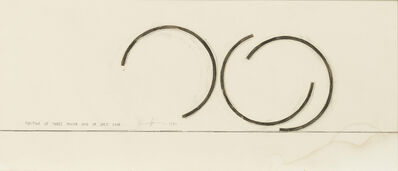 Bernar Venet, 'Position of Three Major Arcs of 245.5 Degrees Each', 1980