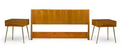 T.H. Robsjohn-Gibbings, 'Pair of nightstands and full-size headboard, Grand Rapids, MI', 1950s