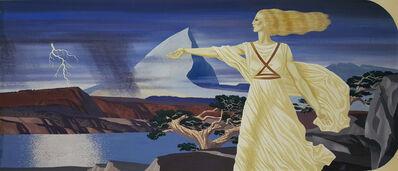 John Atherton, 'Woman in Surreal Landscape  Illustration', 1939